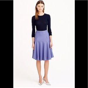 J Crew flare skirt Super 120's wool in lavender